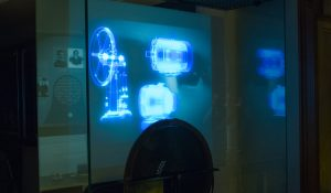 3D Projection on Transparent Screen