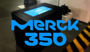 Holodisplays and Digital touch screen for Keynote Communication -Merckgroup